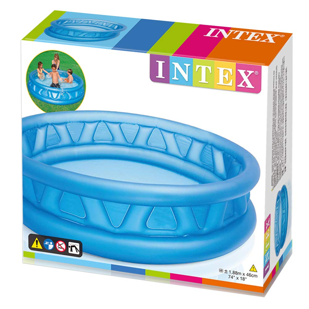 Intex 58431NP - Piscina hinchable de relieve azul 188 x 46 cm, 790 ...
