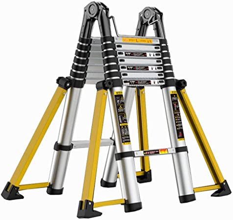 LJSJT Escalera Plegable de Aluminio Escalera Anti Patas de Ocho Patas. Pedal Antideslizante Peso del rodamiento 150kg Escalera Multiusos 4 Pasos, 1.7 + 1.7m: Amazon.es: Hogar