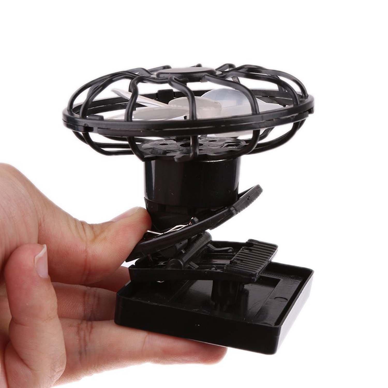 Portable Mini Solar Sun Powered Clip Fan Cooling Fan Outdoor Hat Clip-on Fan & Cooling Fan Energy Saving (MFAN003) by Mruiks (Image #3)