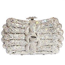 Elegant Crystal Studded Clutch