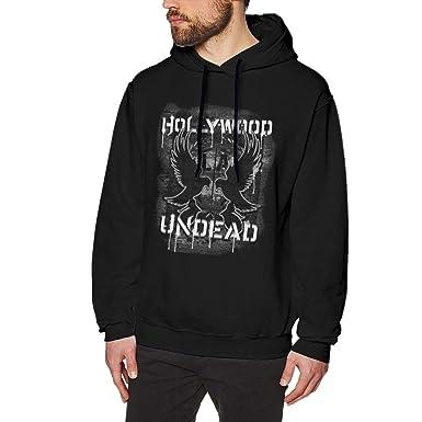 c09ae4b52f7f2 Amazon.com  Younter Hollywood Undead Men Casual Hooded Sweatshirt with  Drawstring Black  Clothing