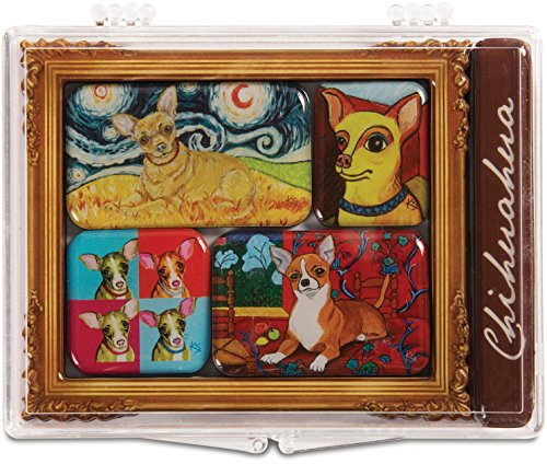 Pavilion Gift Company 12011 Paw Palettes 6-Piece Mini Masterpiece Magnet Set, 4 by 3-1/2-Inch, - Palette Artists Magnet