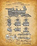 Original Trains Patent Art Prints - Set of Four Photos (8x10) Unframed - Great Gift for Rail Fans