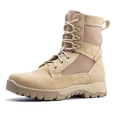 IODSON Mens' Ultra-Light Combat Boots Military Tactical Work Boots Army Shoes: Shoes