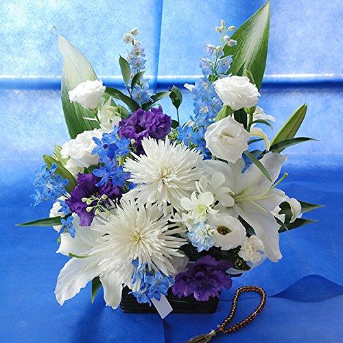 百合(ユリ)のお花を使った お供え お悔やみ アレンジメント (色を入れて, 4Lサイズ)一周忌 命日 法事 法要 B00VFADW2W 4Lサイズ|色を入れて