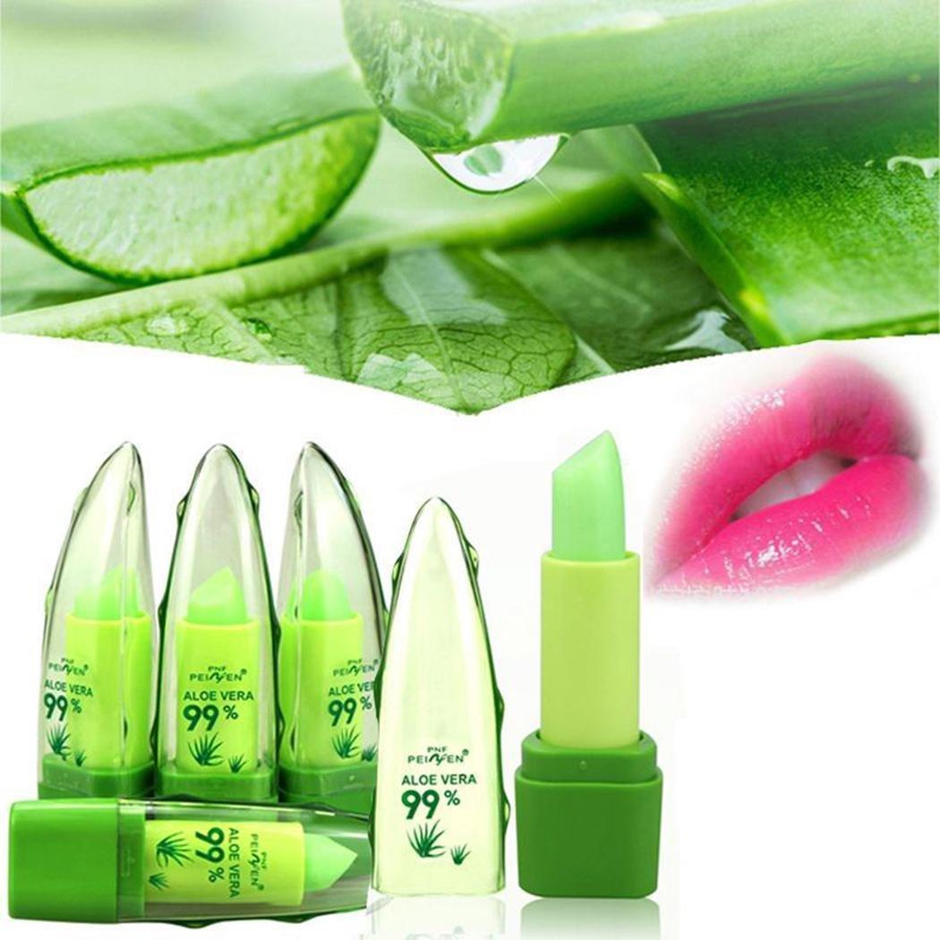 Crofull Women Natural Aloe Temperature Color Changing Lipstick Moisturizing Lipstick