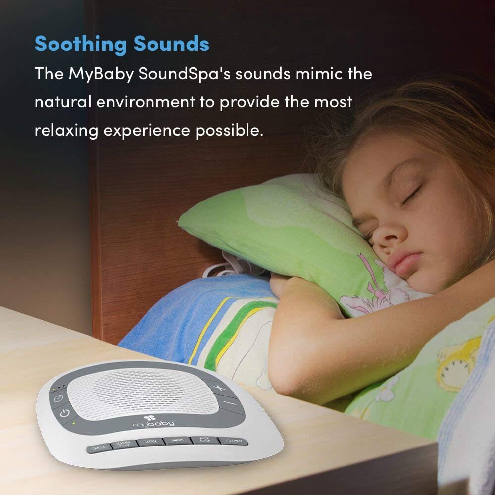 White Noise Machine for Babies   6 Soothing Lullabies for Newborns, Sound Therapy for Travel, Relaxing, Kids, Newborns, Toddlers   Baby Songs, Adjustable Volume, Auto-off Timer   MyBaby SoundSpa