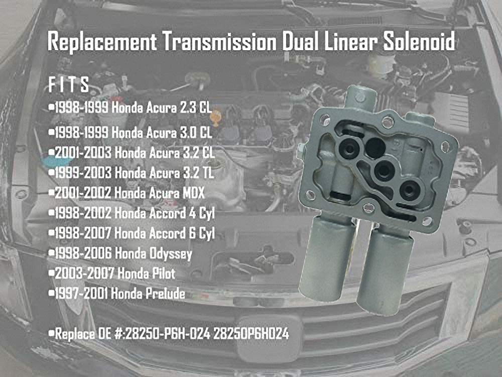 Amazon.com: Transmission Dual Linear Solenoid With 1PCS Gasket And 3PCS  O Rings For Honda Accord Odyssey Acura CL TL MDX Pilot Prelude Replace OE#  ...