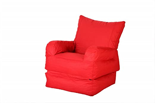 Comfy Bean Bags Outdoor Foldable Lounger - Size XXXL - Without Fillers - Cover Only (Red) Bean Bag Covers at amazon