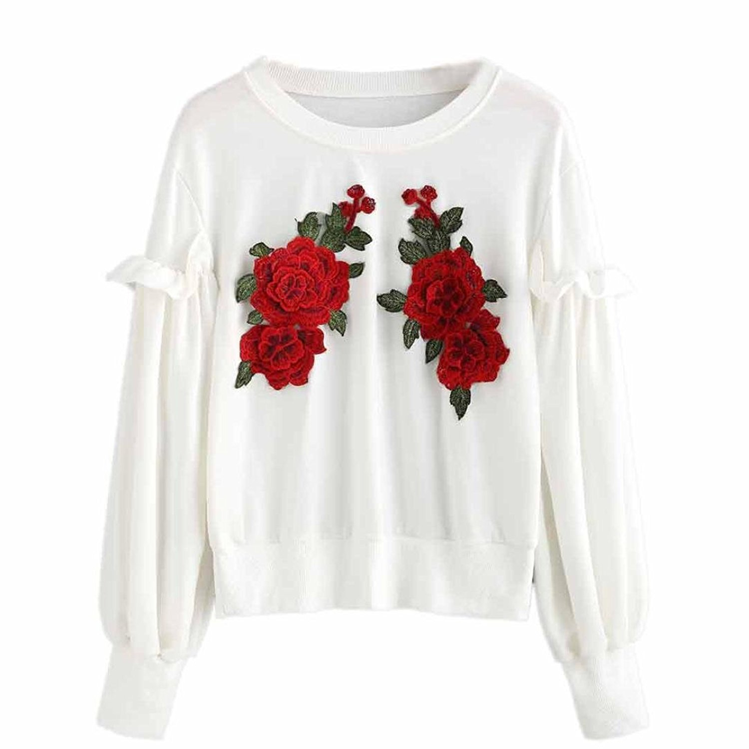Autumn& Winter Clothing, Fulltime(TM) Womens Embroidery Pullover Long Sleeve Blouse YXP70912644