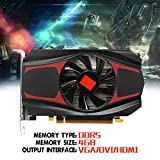 4GB Video Graphics Card, Cywulin AMD ATI Radeon HD7670 4GB GDDR5 128Bit PCI-Express Independent Video Gaming Graphics Card With VGA DVI HDMI For AMD
