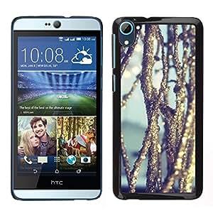 HTC Desire 826 dual Único Patrón Plástico Duro Fundas Cover Cubre Hard Case Cover - Ice Reflective Sun Nature Snow