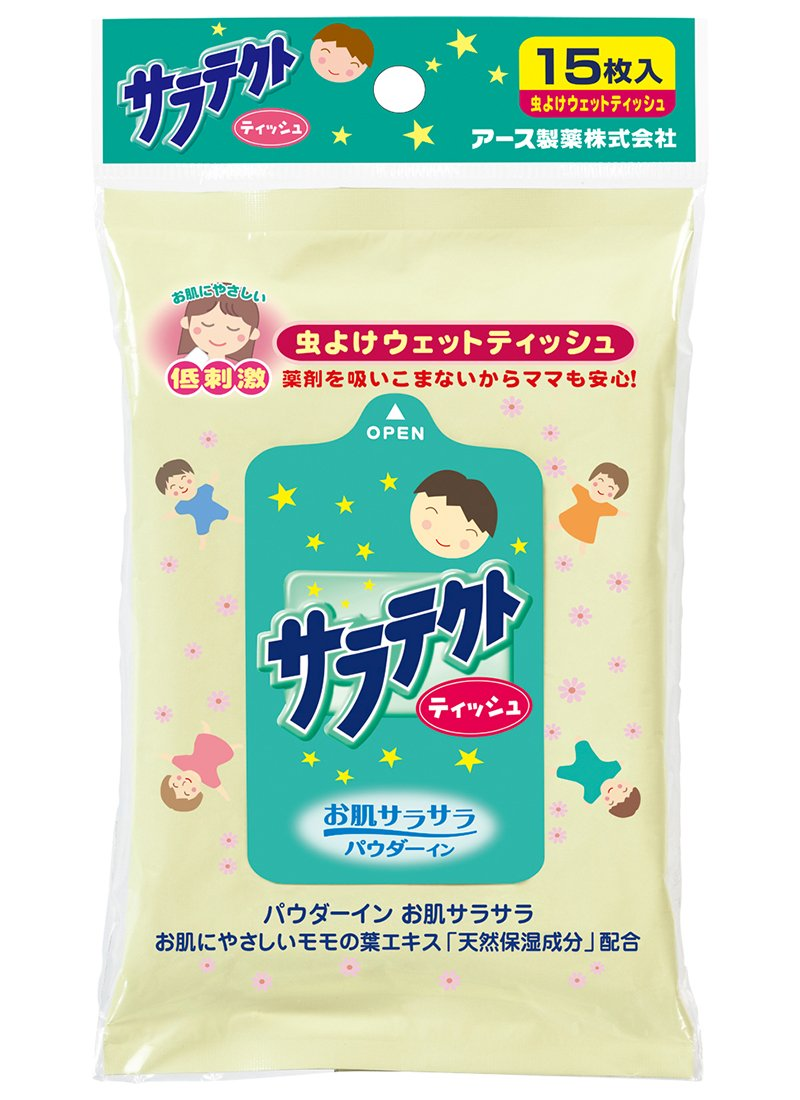 EARTH SARATEKUTO防蚊蟲溼紙巾