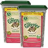 Greenies 2 Pack of Feline Dental Cat Treats, Salmon, 11 Ounces Per Pack