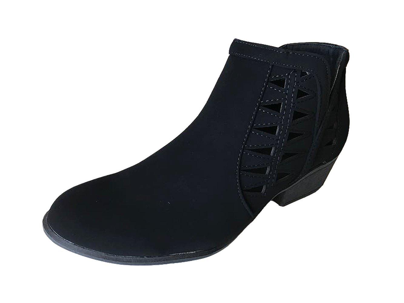 Top Moda Women's Fashion Bootie (8, Black)