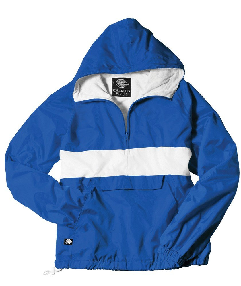Charles River Apparel The Classic Collection Classic CRS Striped Nylon Pullover Jacket from by Charles River Apparel