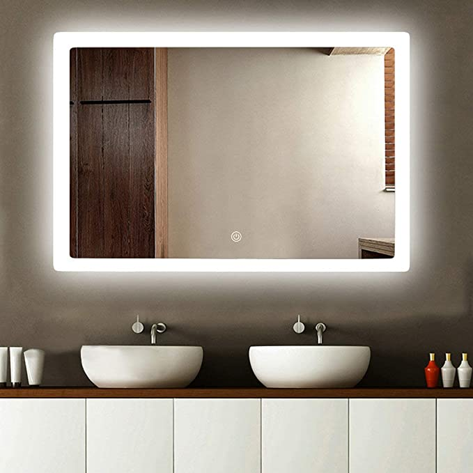 Bathrrom Vanity Mirror Backlit Led Mirror Luminated W/Sensor Touch 24 X31 by Bathenum