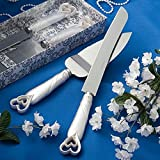 Lingstar Interlocking Hearts Design Wedding Cake Knife