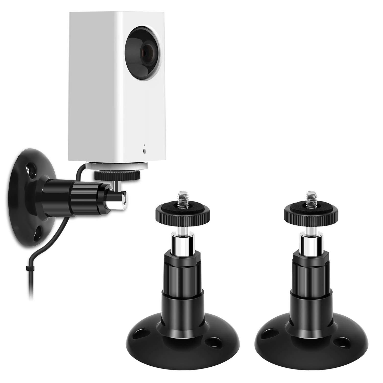 Wyze Cam Pan Wall Mount, Adjustable Indoor and Outdoor 360 Degree Swivel Ceiling Mount Bracket for Wyze Cam Pan 1080p Pan, Arlo Pro, Arlo and Other Compatible Smart Home Security Camera (2 Pack). MENEEA PJ1WN-US-ZLX-1-1