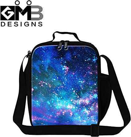 Galaxy Insulated Lunch Bag Cooler Lunchbox Teenager School Picnic Storage Bags
