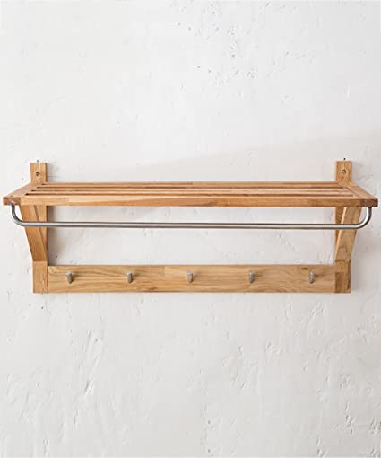 Amazon.com: KKCF Coat Hat Rack Solid Wood Wall-mounted With ...