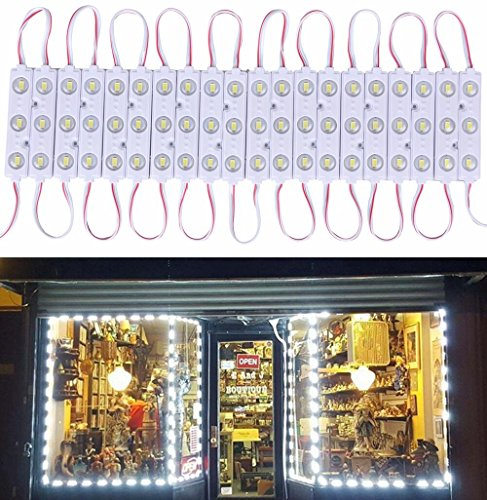 20 FT Store Window Light Kits 5730 3 Led Module Lights with AC Power Plug ON/OFF Switch For Indoor/Outdoor Led Project Commercial Strip Light