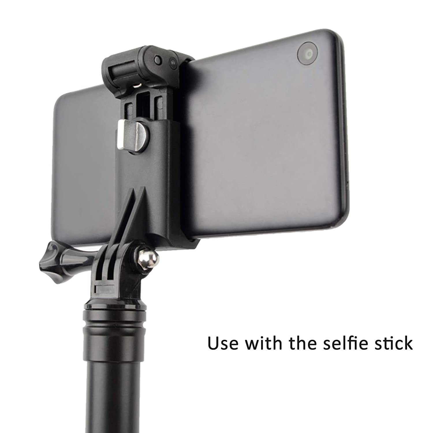Huawei More Mobile Phones Samsung S10 S9 S8 S7 S6 SHOOT Phone Clip for Selfie Stick Monopod Adjustable Clamp Suitable for Width 51-84mm for iPhone Xs XR 8 X 8P 7 7P 6S 6P 6