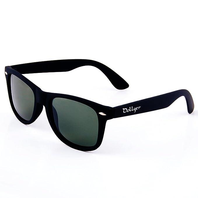 Dollger Classic Gafas de sol Polarizadas y Wayfarer y Cuerno Rimmed Estructura Lente Espejo