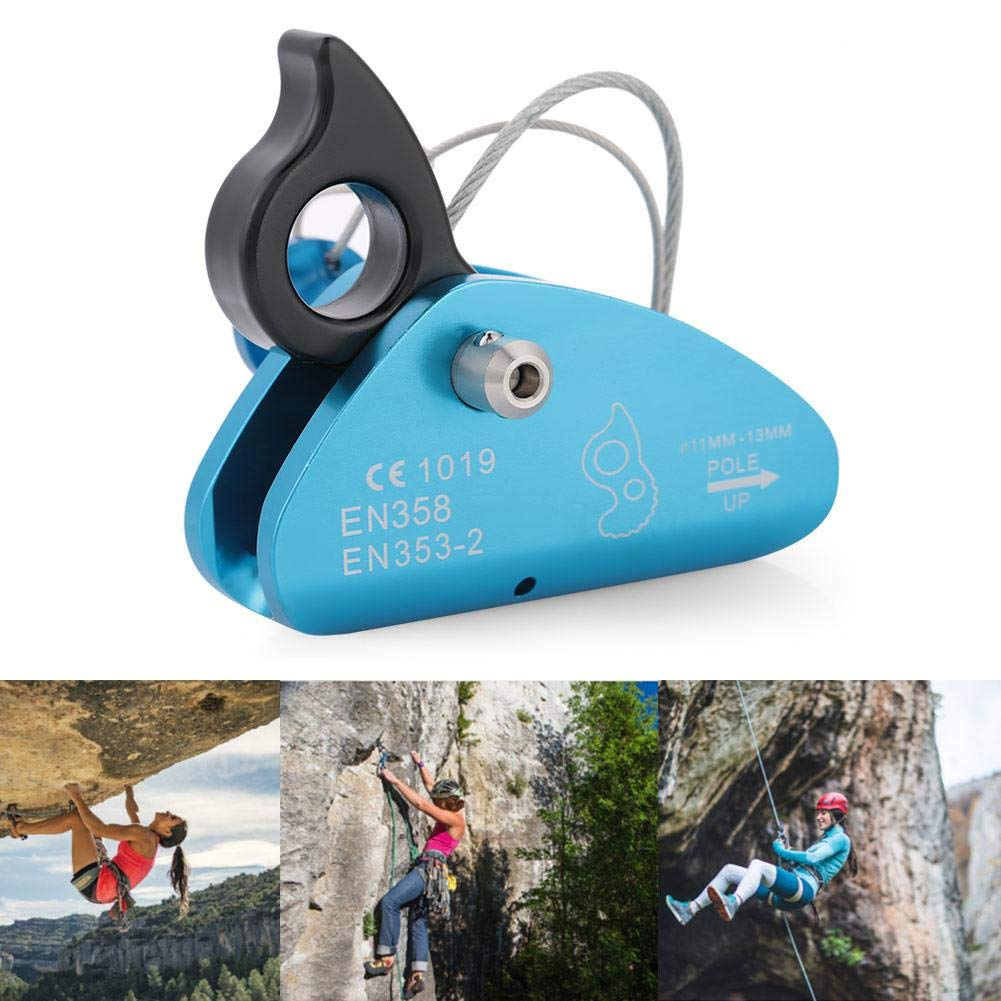 Alomejor Klettern Abseilger/ät Selbstbremsende Seil Stop Block Klettern Karabiner f/ür Camping Rettung