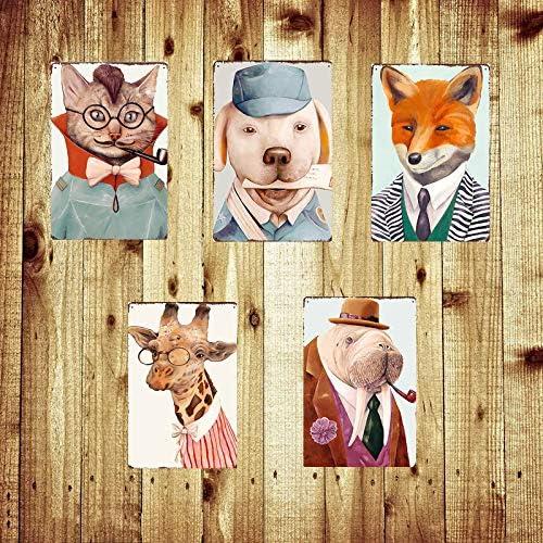 Topdo 1pcs Animal Poster M/étallique Affiche Peinture Art D/écoratif Vintage pour Bar Caf/é Pub Vintage Poster Mural r/étro Plaque en m/étal Bar Pub 20 30cm H/érisson
