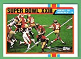 San Francisco 49ers 1989 Topps SUPER BOWL XXIII Card from 1988 vs Bengals (Joe Montans) (Jerry Rice) (Steve Young) (Ronnie Lott) (John Taylor)