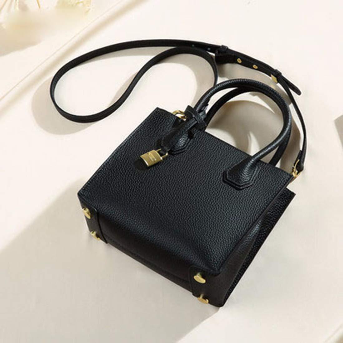 KERVINZHANG Echtes Leder Frauen Top Top Top Griff Satchel Handtaschen Schultertasche Tote Handtasche Cross Body Bag (Farbe   schwarz) B07MXDMW1K Clutches Modern 520e03
