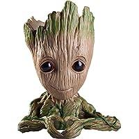 Zesta Marvel Avengers Infinity War Pot Wooden Tree Look Groot Flower Pot Pen Stand Container Toy Gift - Heart Design -GR0003