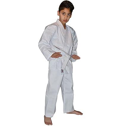 TurnerMAX Traje Karate de algodón Blanco 8 oz con cinturón ...