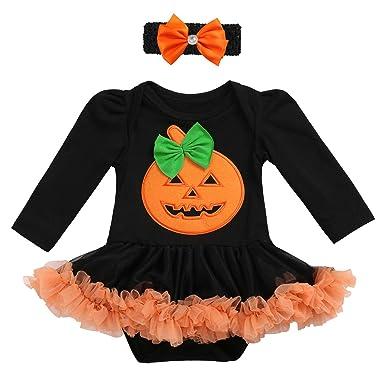 my 1st halloween baby girls romper dress headband shoes tutu outfits pumpkin trick treat