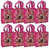 "[8-Pack] JoJo Siwa 8"" Reusable Tote Bags/Party Favor Goodie Treat Bags"