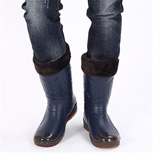 Stivali Pioggia Uomo Stivaletti Gomma Invernali Rain Boots