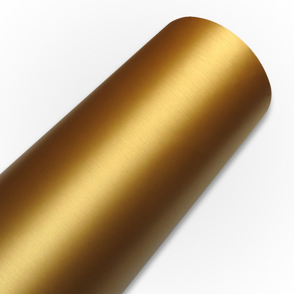 HOHO 120cmx50cm Matte Brush Gold Vinyl Adhesive Roll Adhesive Craft Vinyl- for Cricut, Silhouette Cameo, Craft Cutters