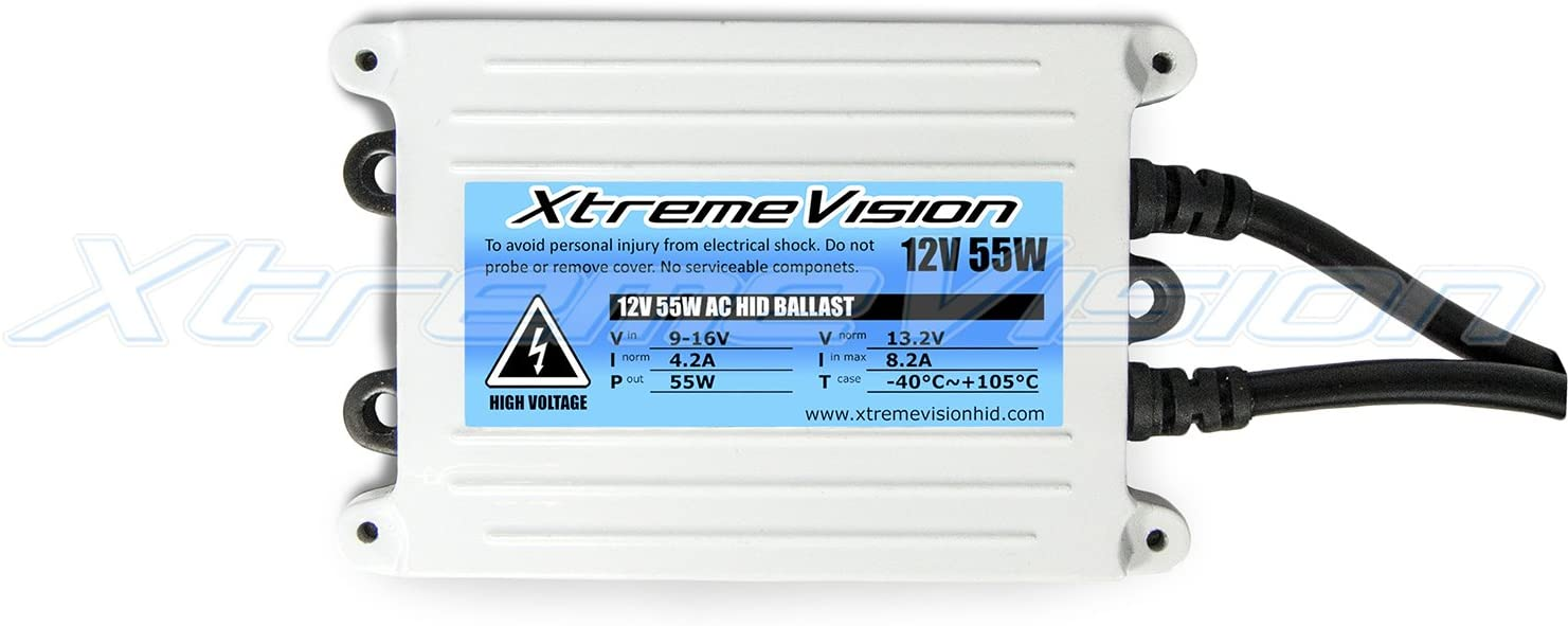 2 Year Warranty 8K Medium Blue Bi-Xenon 9007 8000K XtremeVision DC 35W Xenon HID Lights with Premium Slim Ballast