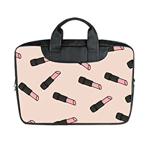 INSTALL AND EASY TO CARRY Wear& Slim &Dapper Lipstick Pattern Custom Waterproof Nylon Bag for Laptop 11 Inches(Twin sides)