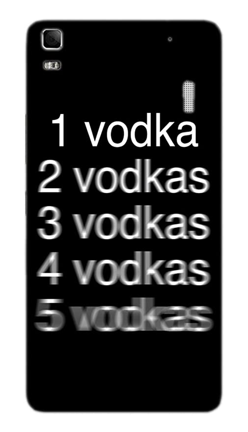 best service 7684b cf025 Back Cover for Lenovo K3 Note Vodka Shots: Amazon.in: Electronics