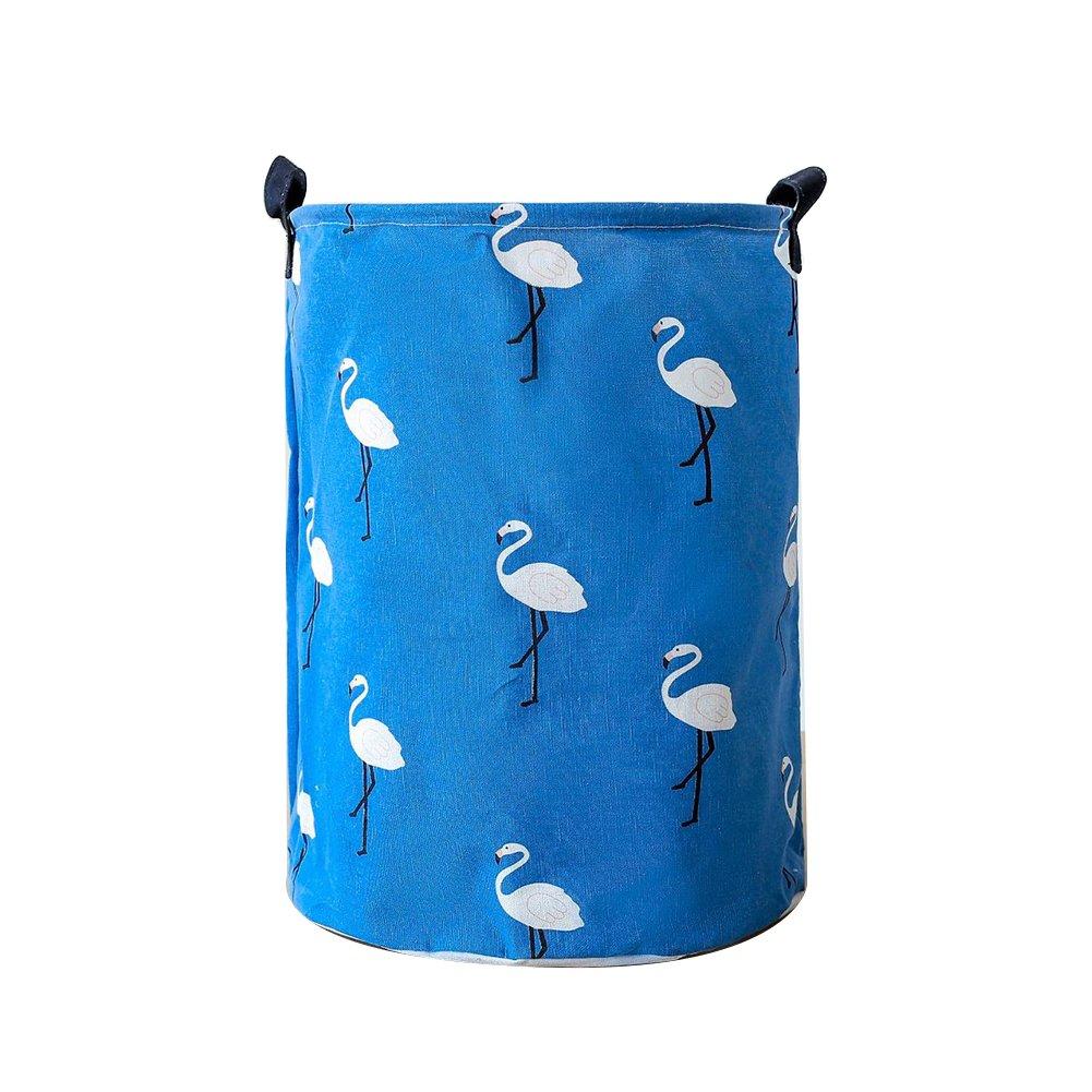 VelvxKl Portable Panier à Linge Sale de Rangement pour vêtements de Salle de Bain à Laver Sac Pochette Sac Organiseur de Chambre à Coucher Green