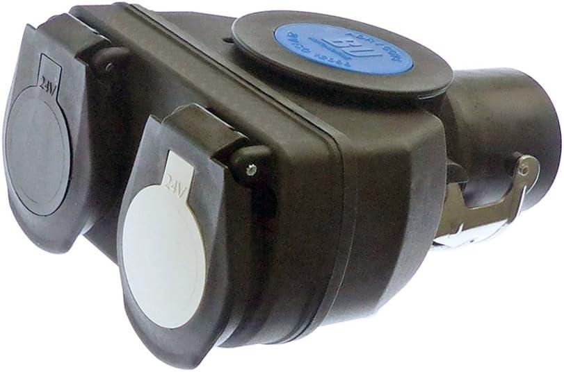 Fahrzeugbedarf Wilms Kurzadapter Adapter Adapterbox Von 15 Polig Auf 2 X 7 Polig P F Anhänger Lkw Auto