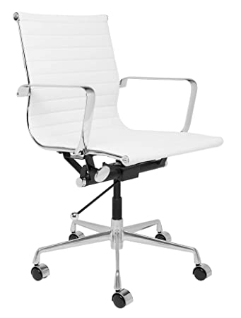 SOHO Ribbed Management Office Chair White
