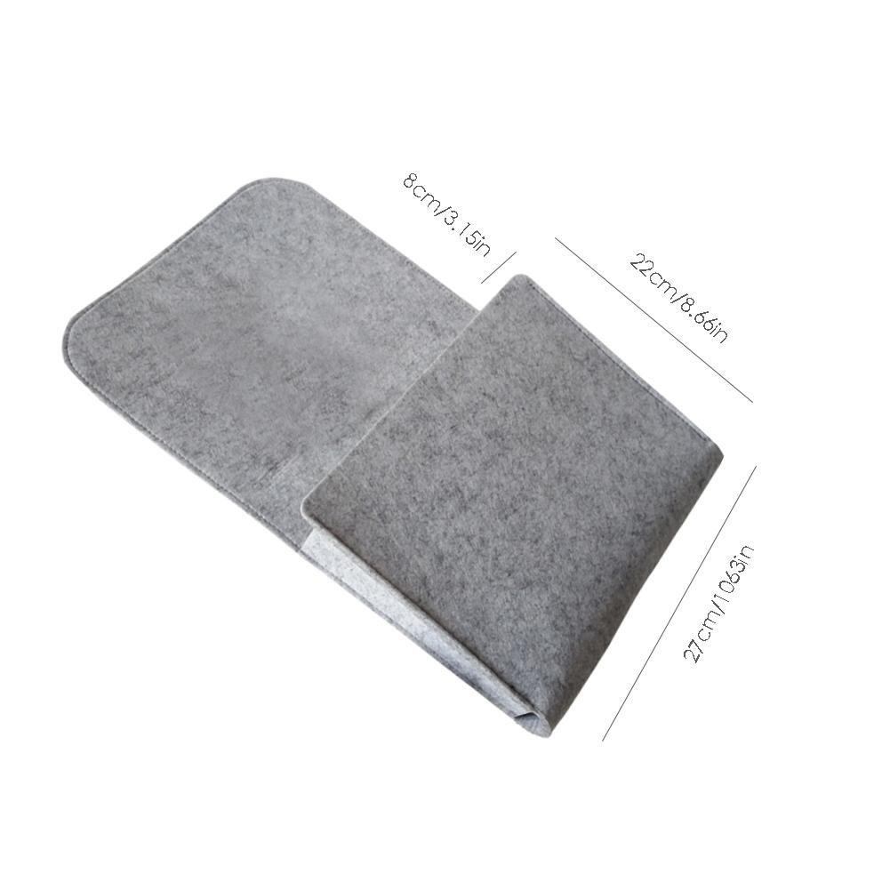 Arvin87Lyly Bedside Storage Bag Bed Pocket Hanging Bag for TV Remote Control Felt Cloth Bed Bag Laptop Book Newspaper Phone Small Things Holder