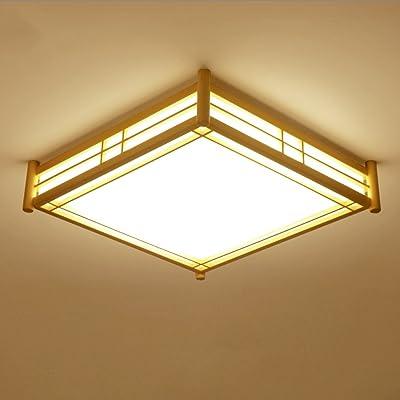 Ywyun Lampe De Plafond Japonaise En Bois Massif Lampe De Plafond