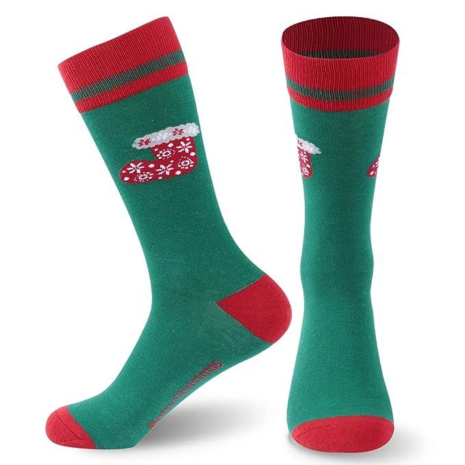 1 Pairs Christmas Women Girls Casual Xmas Breathable Cartoon Print Mid Socks Warm Cotton Socks Classics Crew Socks