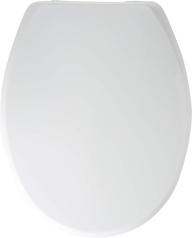 Bemis 4406CP Vegas STA-TITE Lunette WC en bois moul/é avec charni/ères chrom/ées Blanc