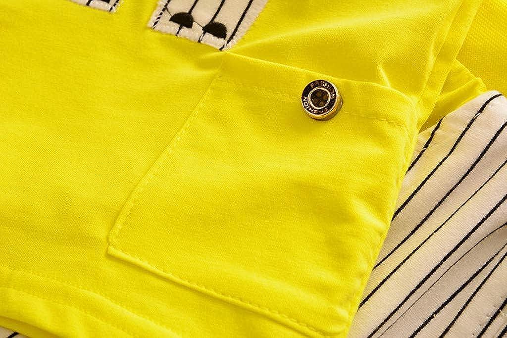 Toddler Babys Cartoon Clothes,Suma-ma Infant Girls Boys Summer O-neck Cartoon Style Vest Stripe Shorts Sport Suits