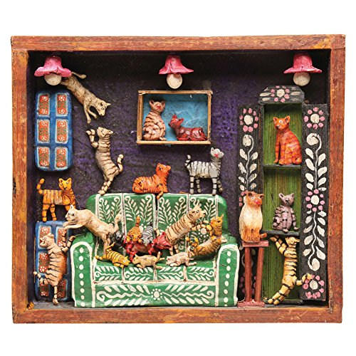 Retablo Frame - House Of Cats Handcrafted Wooden Wall Art (Folk Art Frame Picture)